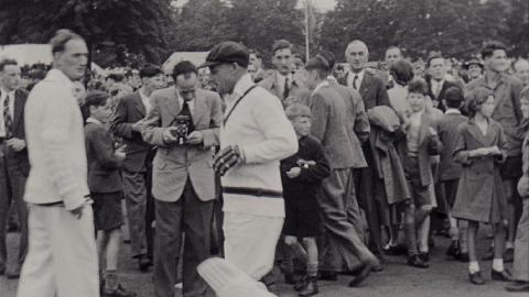 Cricket Scenes with Don Bradman I