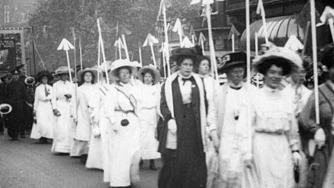 Demonstration of Suffragettes
