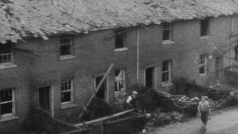 Bomb damage and Home Guard in Hythe