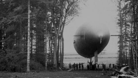 U.S.A. Airship Somewhere in England