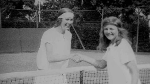 Flappers' Fierce Tennis Duel