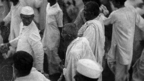 In India Today: Gandhi : Stormy Petrel of Indian Politics  Pathé Gazette No. 1705