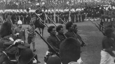 The Indian Review - Grand March past of the Forty Indian Regiments