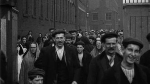 'Hands' Leaving Work at North-Street Mills, Chorley (1900)