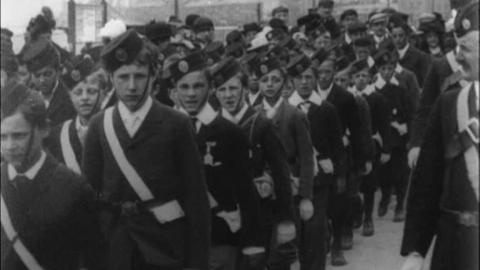 Morecambe Church Lads Parade at Drill (1901)