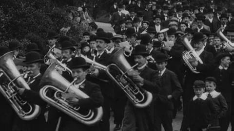 Procession in Accrington Park (1900)