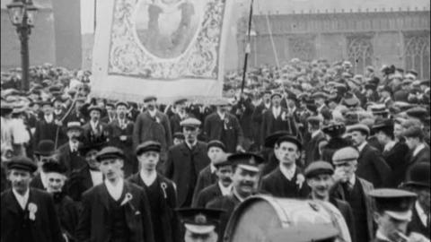 Miners Demonstration at Wakefield (1908)