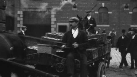 Workers Leaving Nuttall's Brewery, Blackburn (1900)
