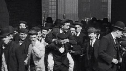 Workers Leaving Craven Ironworks, Ordsall Lane, Salford (1901)