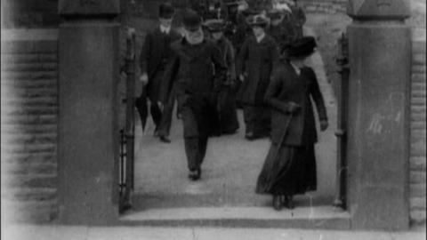 Congregation Leaving All Saints Church, Blackburn (c.1903)