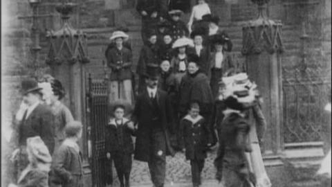 Congregation Leaving New Jerusalem Church in Accrington (1902)