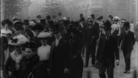Congregation Leaving Parish Church, Sheffield (1902)