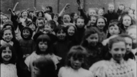 Scholars Leaving St Andrew's Roman Catholic School, Dumfries