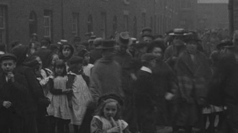 Workers Leaving a Factory in Leyland (c.1900)