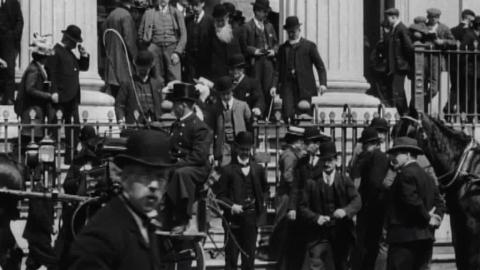 Congregation Leaving St Mary's Dominican Church in Cork (1902)