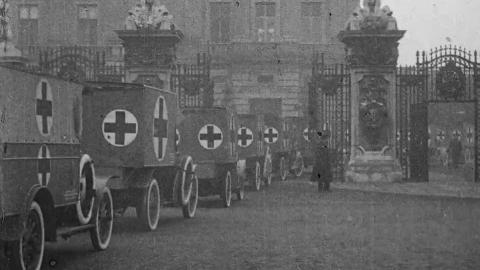 World War One Motor Ambulance Inspection