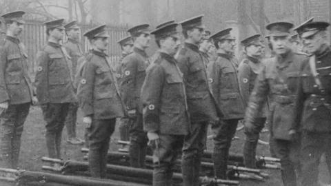 World War One Troops Inspection