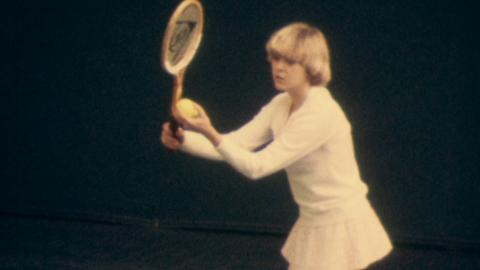 Sue Barker in the Ladies Tennis BP Cup