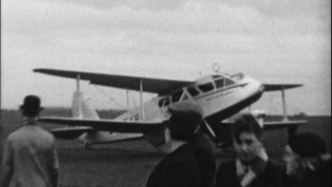 Opening of West Hartlepool Airport