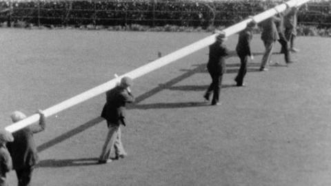 Erecting a Flagpole at 'Bryn Mêl'