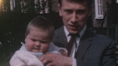 Boulter Family Films: Baby Girl And Father, Becontree (1964)