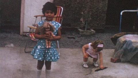 Boulter Family Films: Girls With Toys In Garden, Becontree (1965)