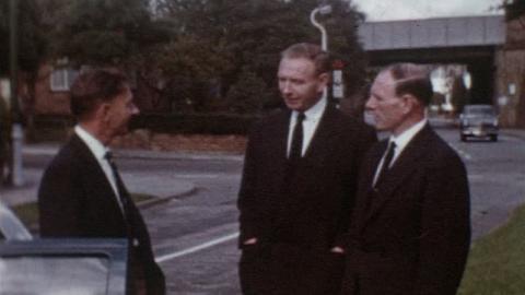Davis Family Films: Maisie's Funeral, Beckenham, Haringey, London (1965)