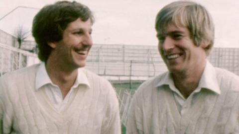 Somerset County Cricketers Ian Botham and Brian Rose