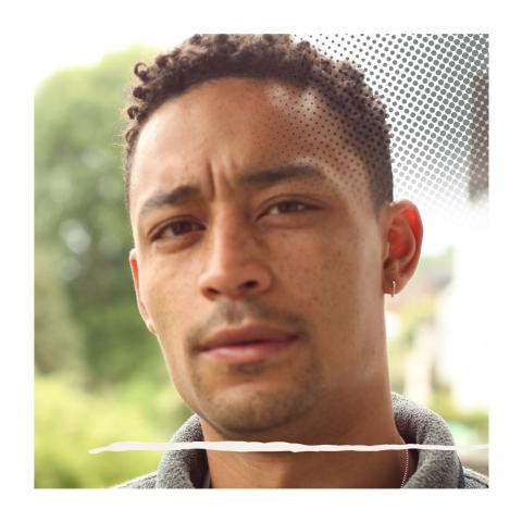 Loyle Carner in his garden, Croydon, London